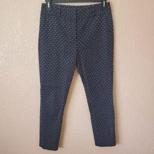Ann Taylor LOFT Navy Printed Marissa Skinny Pant